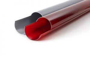 Rohrhalbschalen aus PVC-U mit Rastersystem